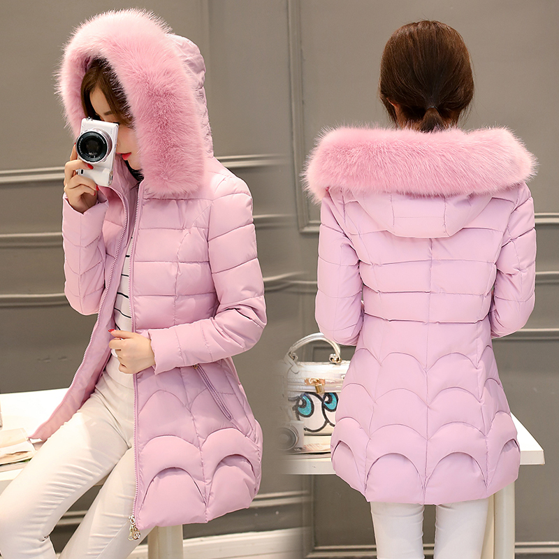 Down Coat With Fur Hood Down Parka Puffer Jacket heavy hair thickening warm down coat of cultivate  winter jacket