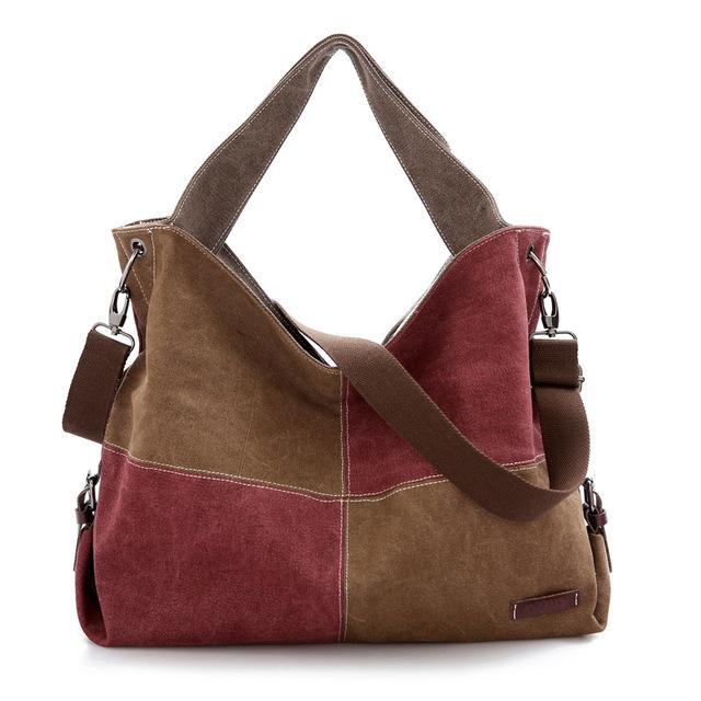 A nova tendência de coreano bolsa de ombro Canvas Tote cor Crossbody Retro grosso moda de tudo - corresponder bolsas