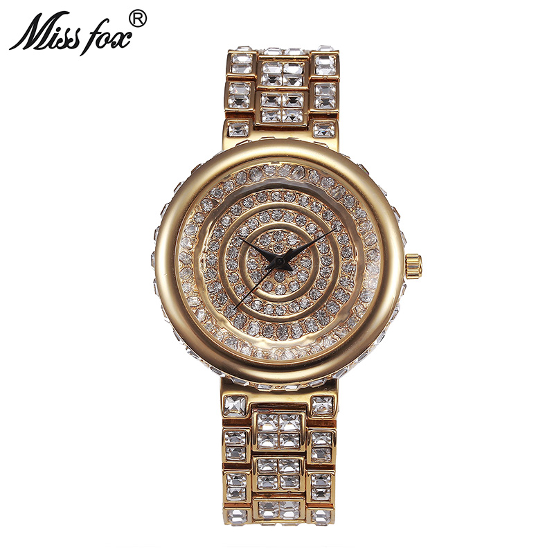 Miss Fox 39mm Luxury Watches Women Top Brand Diamond Women Quartz Watches Stainless Steel Japan Movement Female Bayan Kol SaatiMiss Fox 39mm Luxury Watches Women Top Brand Diamond Women Quartz Watches Stainless Steel Japan Movement Female Bayan Kol Saati