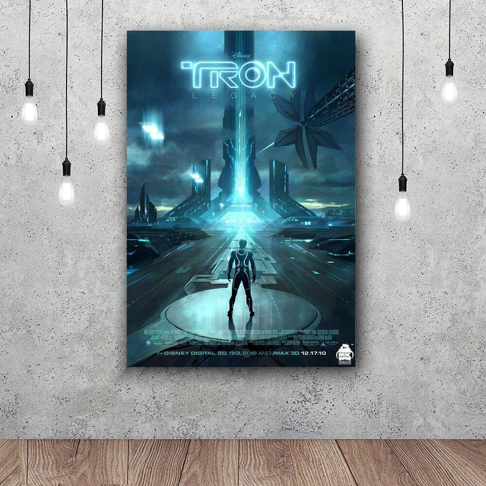 Tron Legacy Licht Zyklen Film Kunst Poster Für Home Decor Silk Malerei 12x18 24x36 zoll