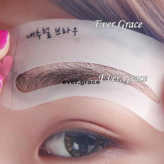 Styles Eyebrow Drawing Card Stencil Grooming Shapping Assistant Eye Brow Class 4
