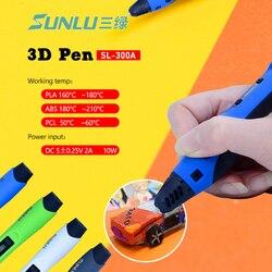 3D pen print SL-300A Intelligent 100M 20pcs ABS Low temperature 3D Pens filaments DIY Painting toys drawing gift