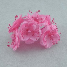 72PCS,4-4.5CM Head,Fake Flower Bouquet In White,Pink,Artificial Silk Small Roses With Pearl,Hair Accessories,Wedding Decoraition