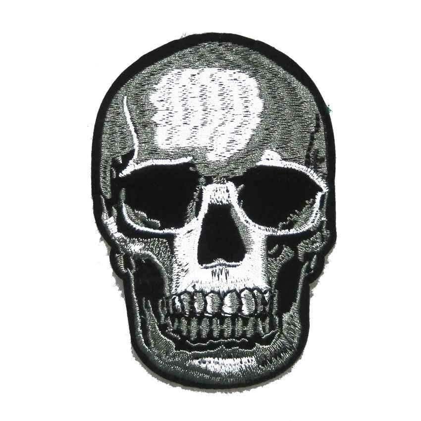 2018 Venda Promoção Adesivos 1 peça Realista Crânio Zombie Fantasma do Dia Das Bruxas Diabo Camisa Jaqueta de Motociclista Punk Rocker Ferro No Remendo