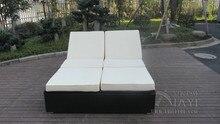 Hand-Woven Rattan Sun Lounger , Outdoor Garden Lounge Chair transport by sea