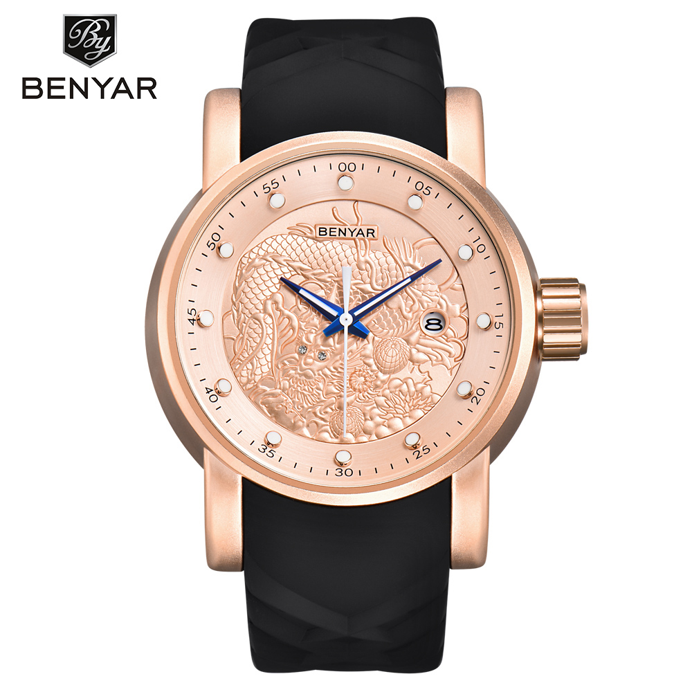 New BENYAR Hot Mens Watches Military Army Top Brand Luxury Sports Casual Waterproof Men Watch Quartz Rubber Man Wristwatch ClockNew BENYAR Hot Mens Watches Military Army Top Brand Luxury Sports Casual Waterproof Men Watch Quartz Rubber Man Wristwatch Clock