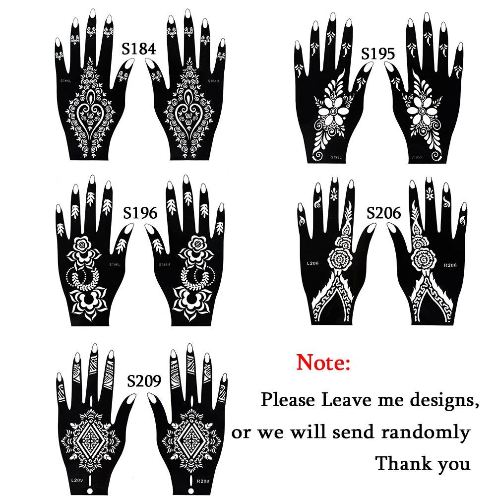 1 Unidades Caliente Hueco Temporal Tatuaje De Henna Plantillas