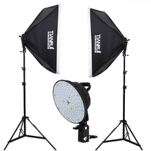 5500 K Regulador de Intensidad 144 unids LED 0-28 W Continua Photo Studio Lighting Luz Soporte 1.6×2 metro de fondo la Fotografía Profesional