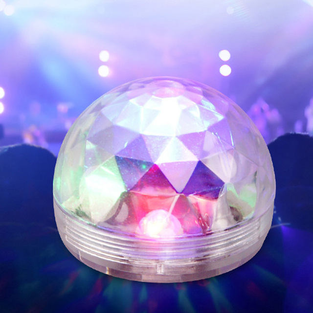 Mobile Phone Light Ball Sound Control Crystal LED Mini Disco Portable Party Lamp Stage Bar Voice Activated USB 1