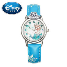 Disney Kids Watch Princess Elsa Fashion Cute Wristwatches women watch Mickey Mouse for Children Leather clock
