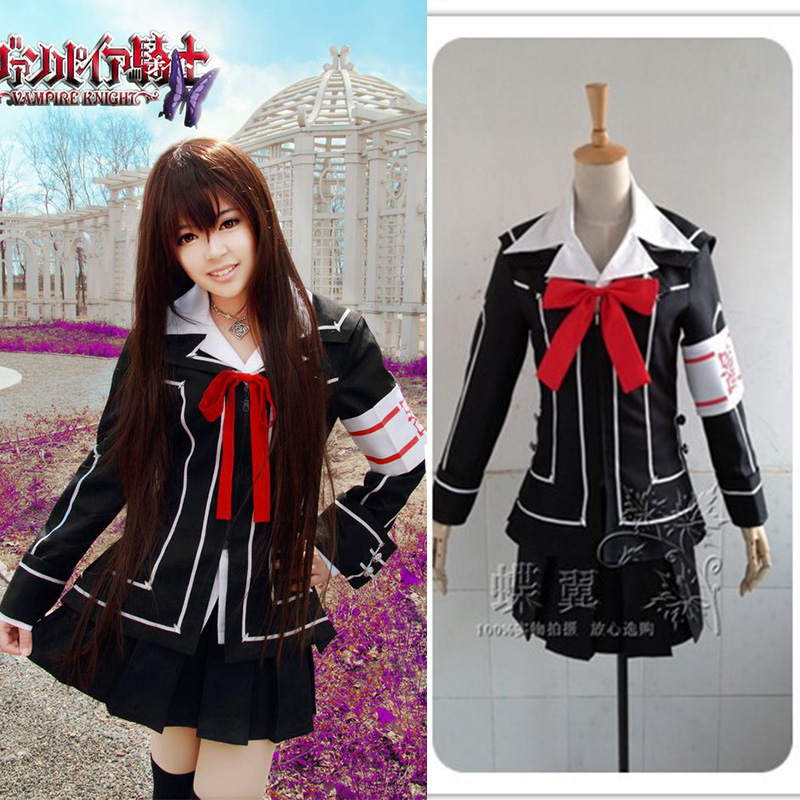 New Cartoon Vampire Knight Yuki Cosplay Costumes Female Suit Japanese Black School Uniform Anime Cosplay Cloth for Women Lolita
