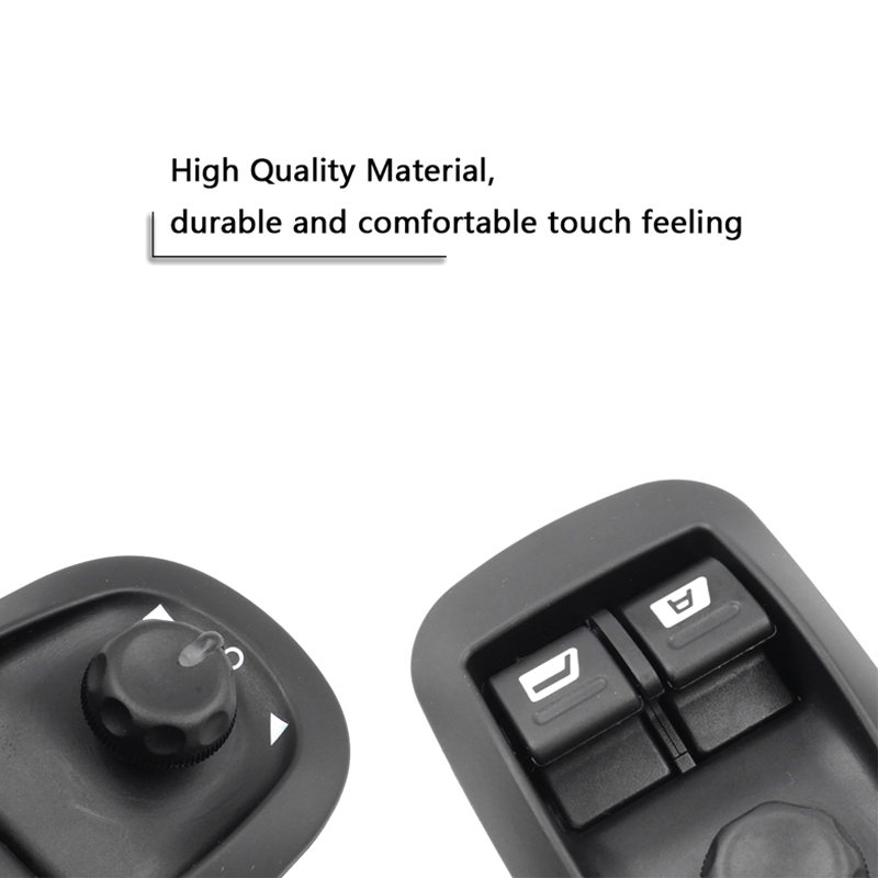 YAOPEI Black Electric Master Window Switch for Peugeot 206 206 CC 206SW 306 206 Saloon 2007 2016 6554 WA 6554WA in Switch Control Signal Sensor from Automobiles Motorcycles