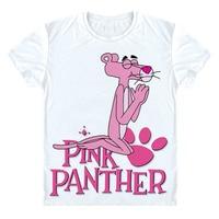 Розовая пантера футболка Новая Летняя мода Для мужчин Для женщин футболка смешные Дизайн пантера молиться друг подарок брендовая короткий ...