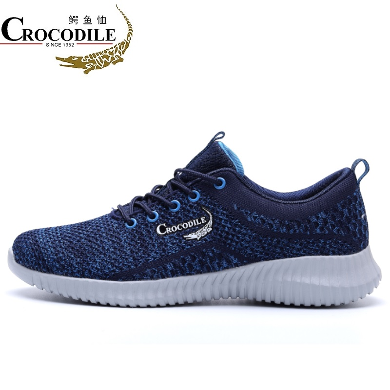 Crocodile Original Men Sneaker 2018Summer Leisure Athletic Drive Sport Shoes for Mens Light Fabric Flat Jogging Running Shoes