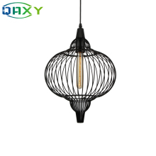 цены Pumpkin-Shaped Iron Pendant Lamp E27 Black Indoor Vintage Pendant Light For Aisle Living Room Coffee Shop Clothes Shop