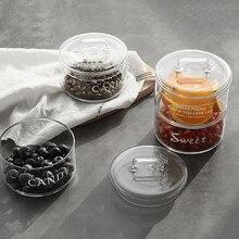 Термостойкая стеклянная миска в скандинавском стиле, маленькая миска с крышкой для фруктового десерта, Салатница, бытовая емкость для хранения закусок