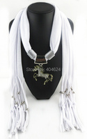 2015 New Hot Solid Alloy Horse Pendant Scarf Charm Women Jewelry Scarves Necklace Pashmina Tassel Shawls