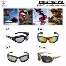 Safety Tactical Glasses X7 Polarized Sunglasses Men C5 C6 Paintball Oculos Airsoft Gafas Protection Hunting Shooting Glasses