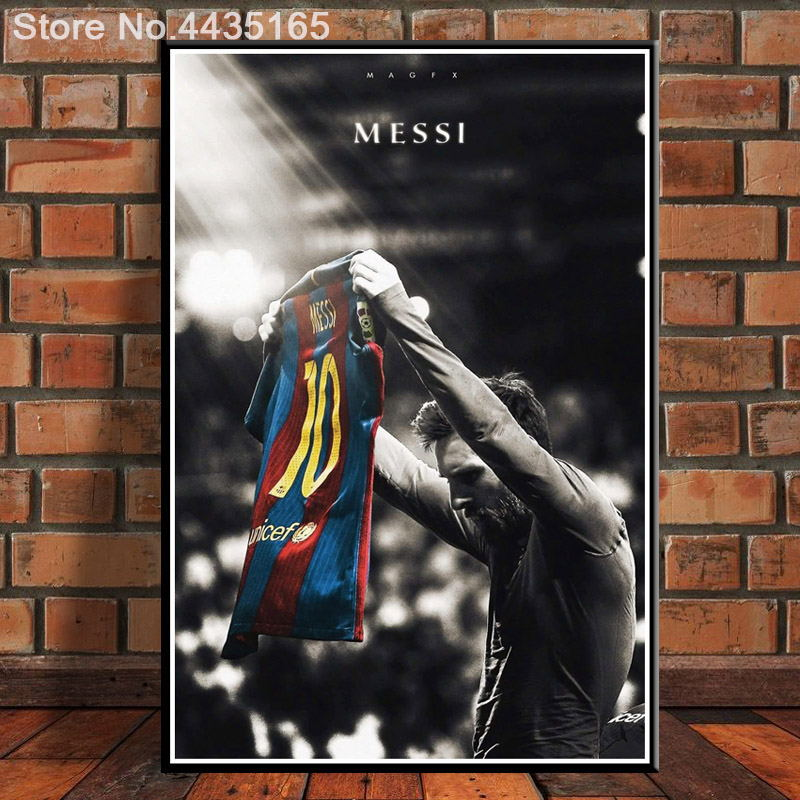 61x91 G2347 Lionel Messi Football Super Player A4 Art Silk Light Canvas Painting Print Posters Home Decor Wall