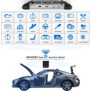 Image 4 - Autel Maxicom MK808BT OBD2 Scanner Auto Diagnostic Tool Diagnose Functies Van Epb/Immo/Dpf/Sas/Tmps pk Launch X431 MK808TS