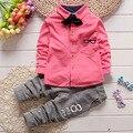 Kids 2017 spring autumn new baby boys Tie suits cute infant clothes suit children 2pcs sets
