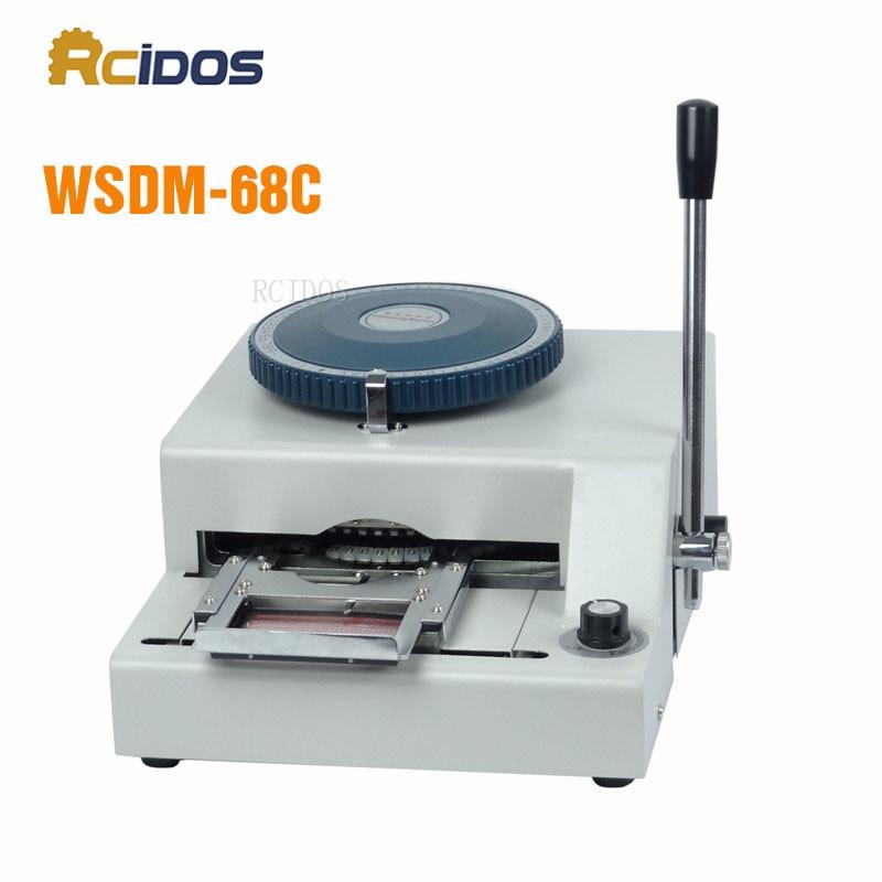 WSDM 68C RCIDOS Manual Code Printer PVC card embossing machine letterpress rotogravure printing machine name card