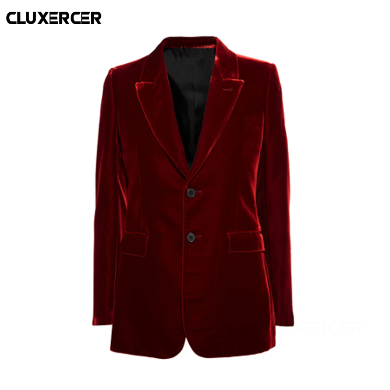 2017 spring women's fashion Slim was thin casual velvet suits Blazers  coats  female