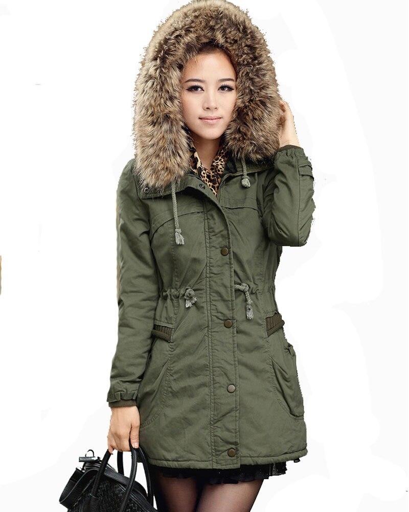 толстые теплые женские длинные пальто куртки зима 2017 дамы зимняя одежда разделение куртки женский меховой воротник парка с капюшоном пальто casacos свободного