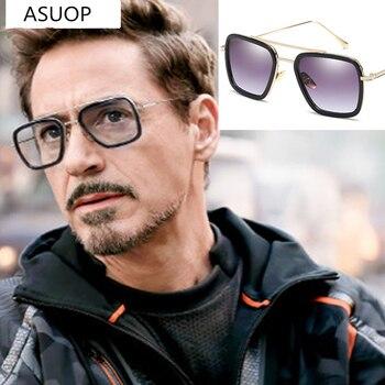 New mens sunglasses square metal frame fashion ladies UV400 retro classic brand glasses sports driving
