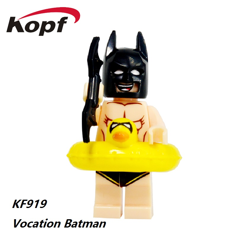 Single Sale Super Heroes Harley Quinn Riddler Joker Vacation Batman Clockwork Orange Building Blocks Children Gift Toys KF919 super heroes riddler scarecrow two face bruce wayne batman penguin aaron cash harley quinn mime building blocks kids toys kf1041