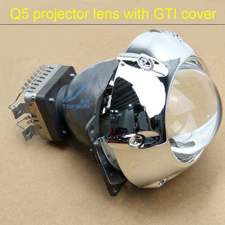 GZTOPHID Original Q5 projector lens with 3.0 inch GTI shroud,model for D1S,D2S,D3S,D4S Socket gti обвес на гольф 2