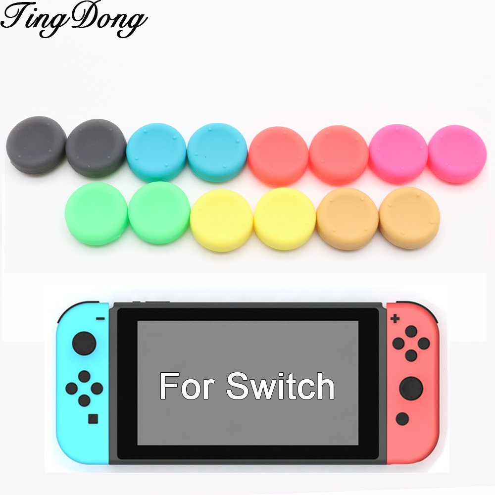 2PCS Silicone Anti-Slip Enhanced Thumb Stick Cap For Nintendo Nintend Switch NS NX Joy-Con Controller Thumbsticks Grips Cover