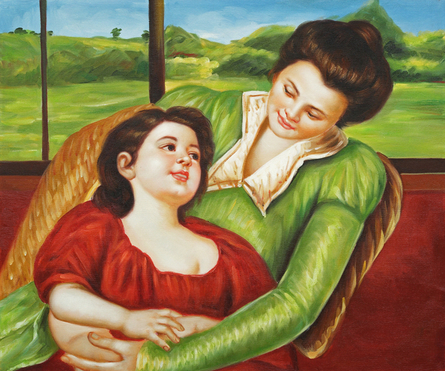Famous Love Oil Painting Arts Reine Lefebre And Margo Before A Windowabstract Kids Portrait