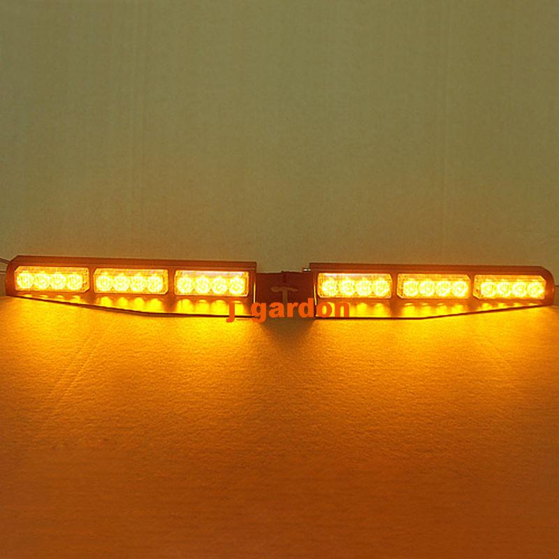 2 х 12 LED 1 Ватт предупреждение аварийного Маяка свет бар эксклюзивный сплит козырек палуба тире Световая опасности Строб Янтарный