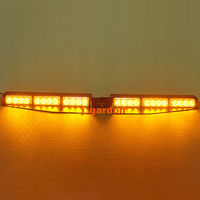 2x12 LED de 1 Vatios de Emergencia Beacon Luz de Advertencia Bar Exclusivo Cubierta Dividir Visor Dash Hazard Estroboscópico Barra de Luces Ámbar