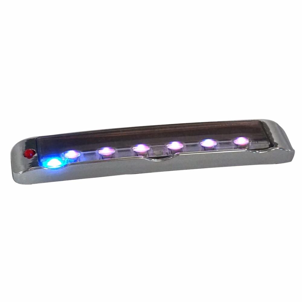 2x Door Edge Guard Scratch Protector Solar Led Strobe