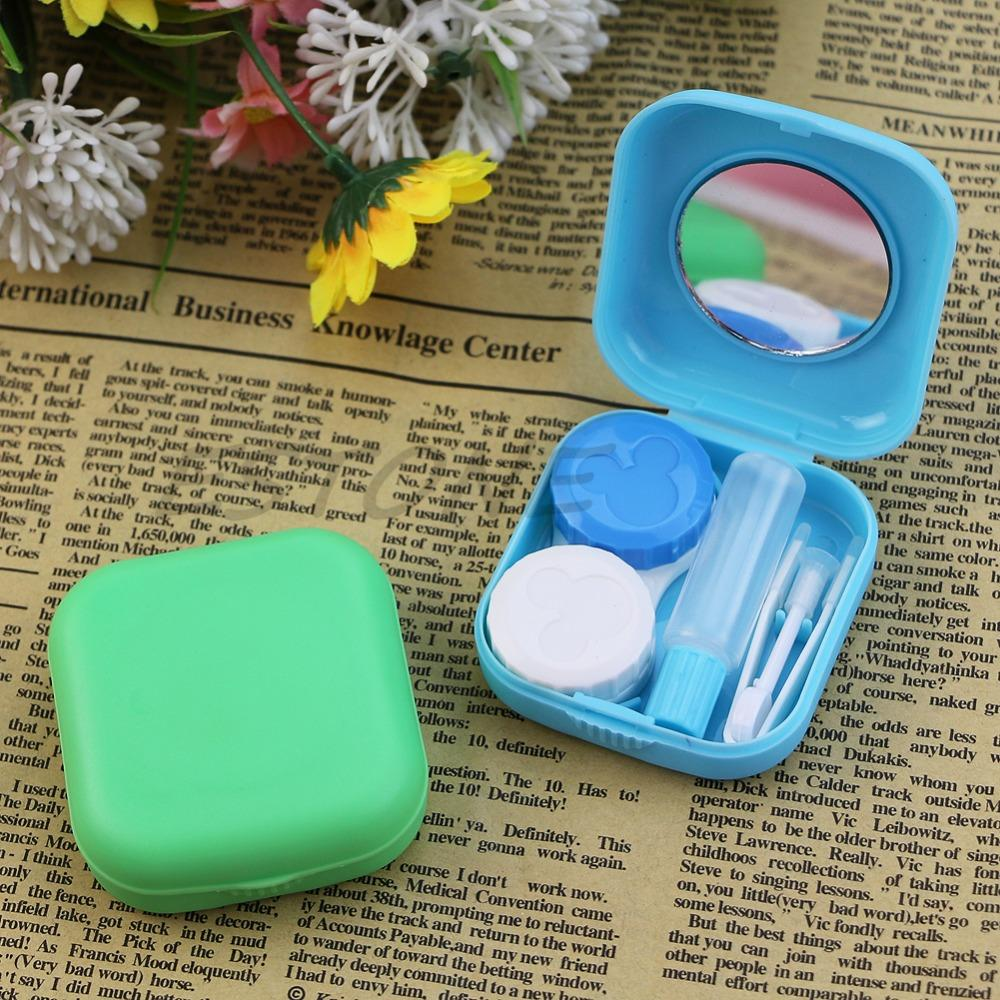 Lower Price with Mini Mirror Contact Lens Travel Kit Easy Carry Case Storage Holder Container Box Eyewear Accessories