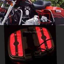 Новый Электра Аот LED Подсветкой Задняя Подножка Пассажирский Паркетной Доски Крышка Комплект Для Harley Touring Softail Dyna Пользовательские Бесплатная Доставка