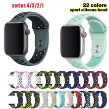 YIFALIAN band for apple watch series 1 2 with Light Flexible Breathable silicone strap sport official color