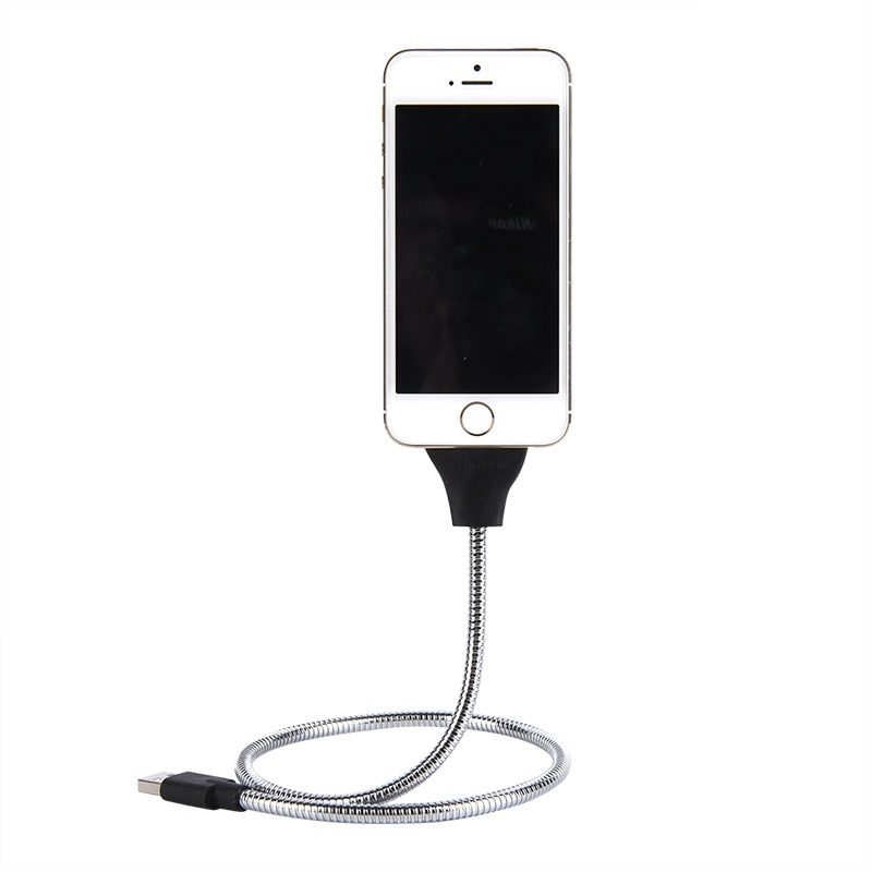 Cargador de teléfono car Dock flexible Stand Up cable de carga + coiled titular en uno para iphone6 6 s 6 Más 5S 5 5C para Samsung HTC andriod