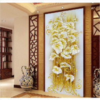 50 90cm Home Decoration Round Diamond Painting Embroidery Mosaic Picture Of Round Glass Crystals Craft Christmas