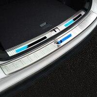for volkswagen tiguan accessories Tiguan rear guard plate trunk car stainless steel door tiguanMK2 2018 2017 door sill