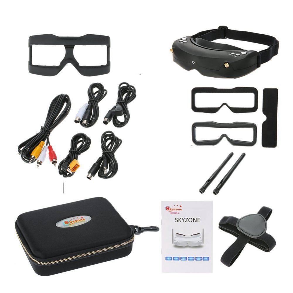 SKY02S V+ 3D 5.8G 40CH FPV Goggles Video Glasses Tracker Head Tracking HDMI-IN Channel DVR (No Transmitter No Camera