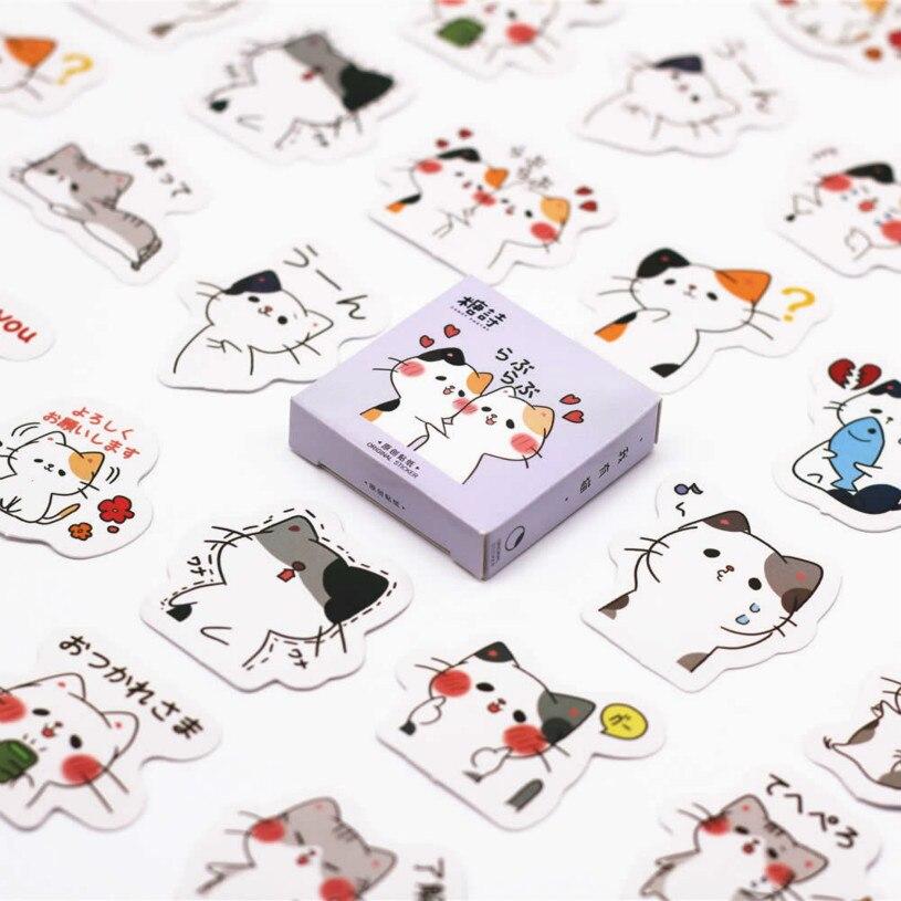 40 Teile/satz Nette Katze Notebook Kawaii Planer Scrapbooking Schreibwaren Escolar Schule Liefert