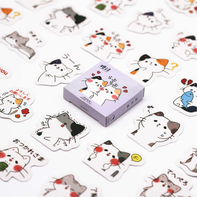 40 unids/set lindo gato cuaderno Kawaii planificador Scrapbooking papelería Escolar suministros escolares
