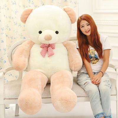 lovely bowtie teddy bear toy  large120 cm bear plush toy bear doll soft hug pillow, birthday gift x180 lovely giant panda about 70cm plush toy t shirt dress panda doll soft throw pillow christmas birthday gift x023