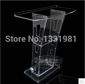 FREE SHIPPING Hot selling Acrylic Desktop Lectern / Acrylic Church Podiums / Acrylic Pulpit купить