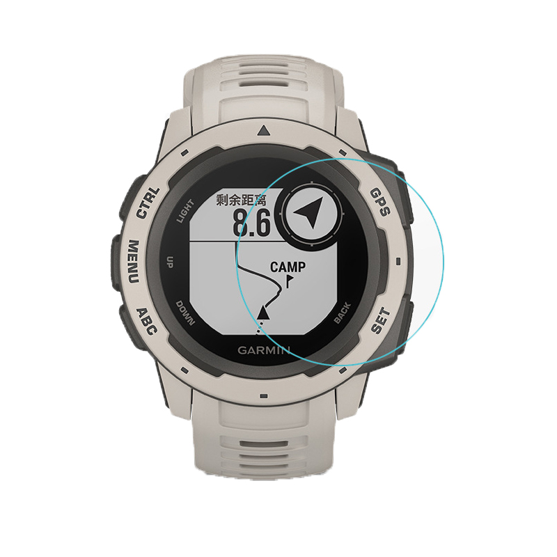 GARMIN Instinct Tempered Glass Screen Protector, protecting, dust, water resistant, jam tangan, lindungi, skrin