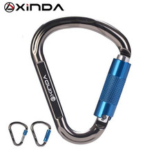 XINDA Outdoor Rock Camping 22KN Tension Safety Lock Buckle Carabiner Climbing Equipment Survival Kit