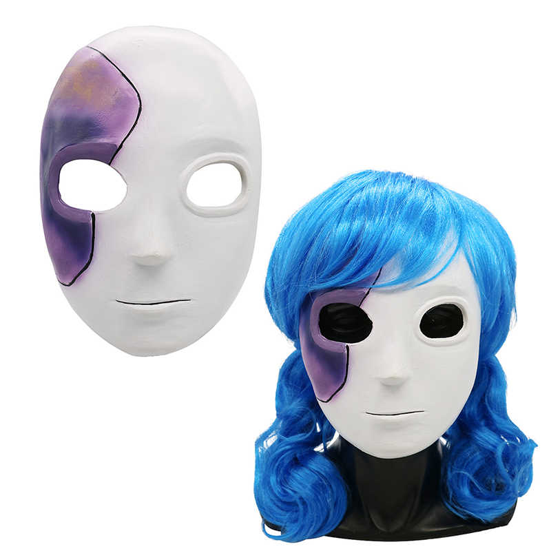 Hot Game Sally Face mask cosplay prop Sally Latex masks wig costume for Adult women men halloween party salyface wigs